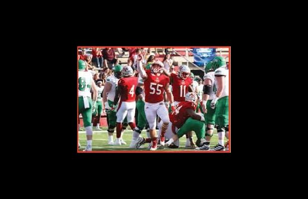Former Lutcher Bulldog great and now Nicholls senior defensive lineman Sully Laiche will go down as one of the best defenders to ever play for Nicholls. Photo by David Dufresne