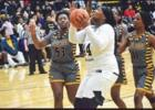 St. James Lady Wildcat Raveon Fletcher (#44), who finished the game with 9-points, takes a shot during last Friday's 51-36 victory over inparish rival Lutcher. Photo by Jonrell Jones