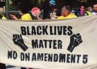 Marchers Walk Through Streets Of Lutcher To Speak Out Against Amendment Number 5